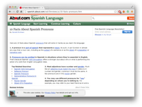 Spanish.About.com