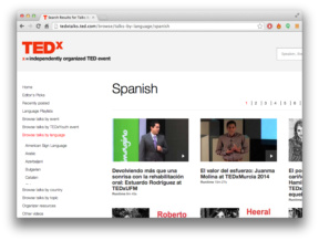 TED Talks in Spanish
